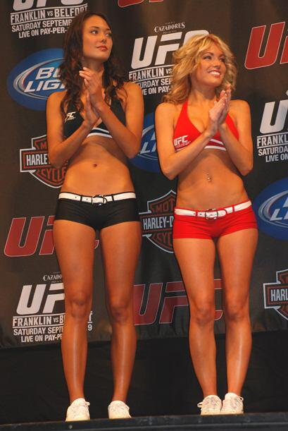 La belleza de las chicas de la UFC llegó a la ciudad de Dallas.
