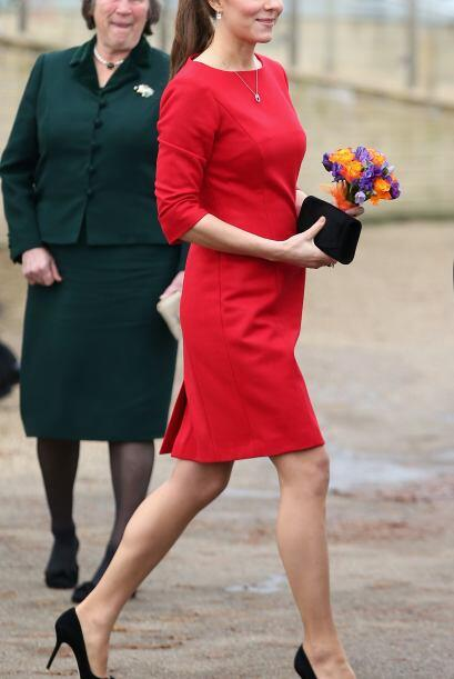 Kate sonrío durante el evento, pero no pudo evitar mostrar su sensibilid...