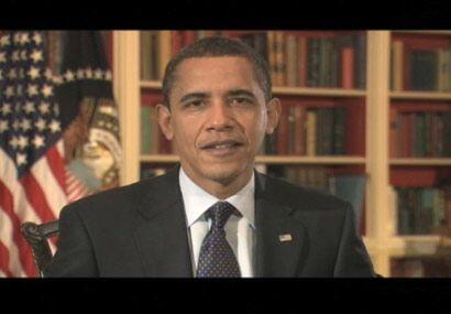 El Presidente Barack Obama abrió el show con una aparición histórica a t...