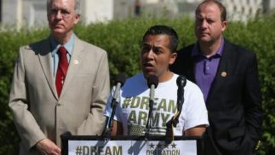 El activista mexicano Cesar Vargas. (Mark Wilson/Getty Images)