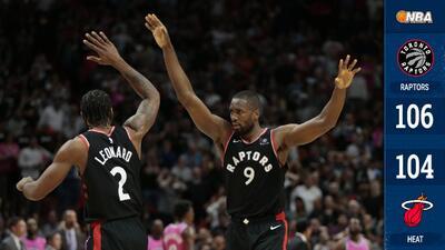 Los Raptors sufren de más, pero vencen en la agonía al Heat