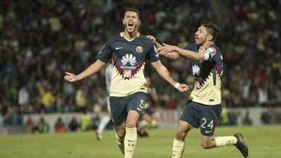 Guido Rodríguez hizo un gran gol ante Santos.