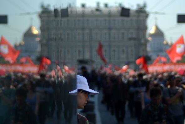 Algunos trabajadores aprovecharon para manifestar su apoyo al presidente...