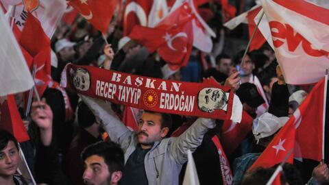 El presidente Recep Tayyip Erdogan, de 63 años, y que super&oacut...