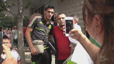 La Selección de México ya está en Dallas y fue recibida por la afición