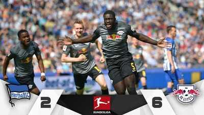 Leipzig le mete media docena de goles al Hertha y se cuela a la Europa League