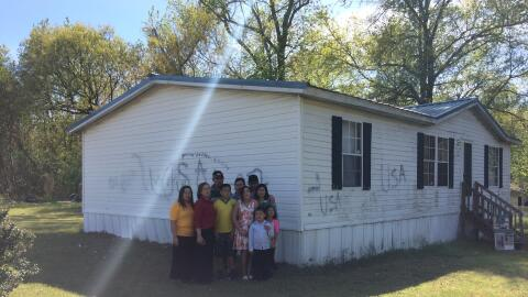 In November, this family's home was vandalized with racist messages:...