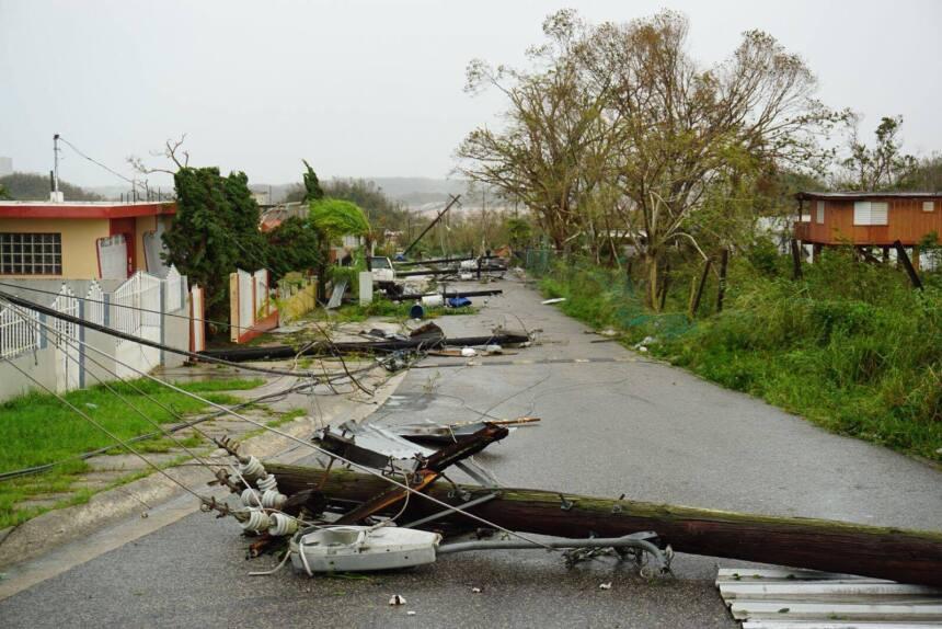 El paso del huracán María por el municipio de Barceloneta dejó inundacio...