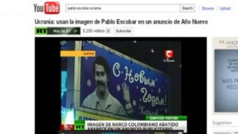 Una imagen del narcotráficante colombiano Pablo Escobar apareció en Ucra...