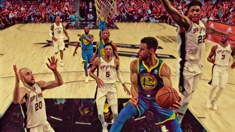 Warriors se pa ponen complicada a los Spurs.