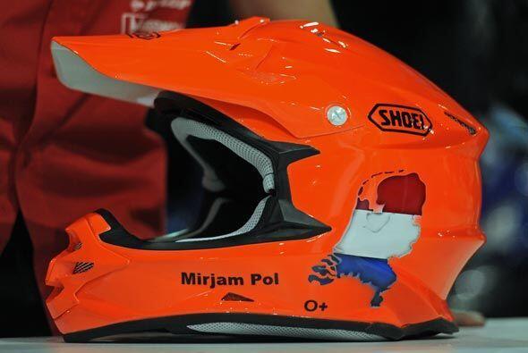 El casco del holandés Mirjam Pol será de vital importancia para su segur...