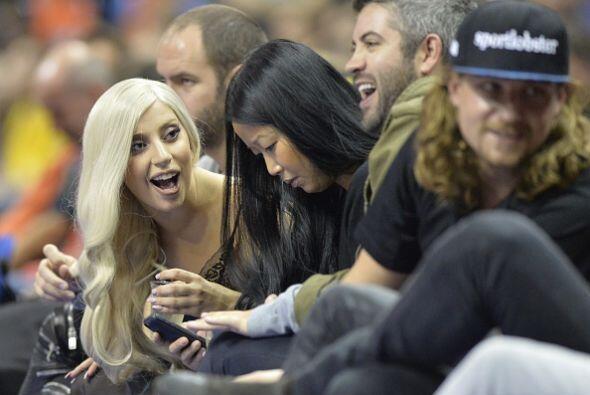 Lady Gaga se divirtió de lo lindo. Su cara lo dice todo.