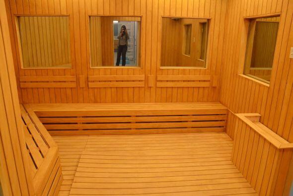 Este es un sauna, otro espacio para que ellos se relajen y pienses en su...