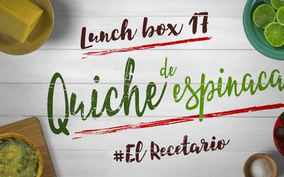 Quiche de espinaca + cerezas (Día 17) - 23 ideas para lunch boxes #ElRec...