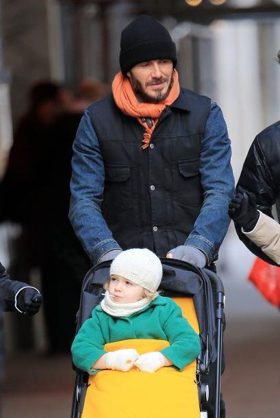 David Beckham aprovechó para postergar este lindo momento junto a sus hi...