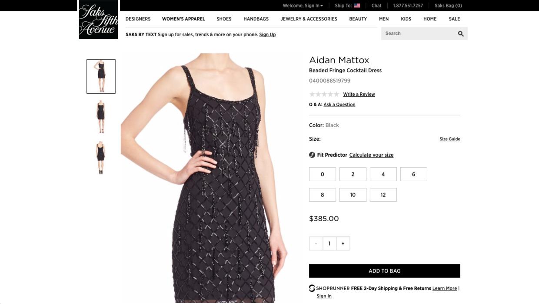 El vestido negro de brillantes de Aidan Mattox que llevaba la conductora...