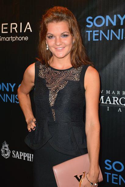 Elegante la campeona defensora, la polaca Agnieszka Radwanska.