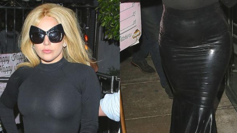 La cantante fue vista al salir de un restaurante.