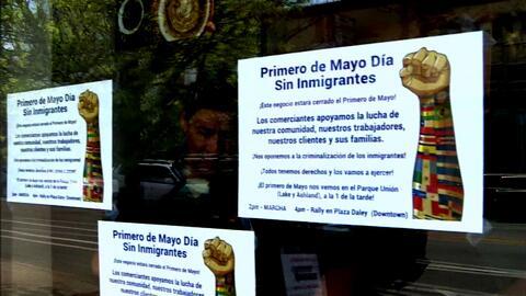 Comerciantes en Pilsen se unen a la marcha del primero de mayo denominad...