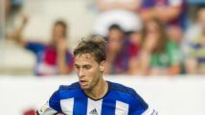 Sergio Canales anotó el gol del empate definitivo para la Real Sociedad.