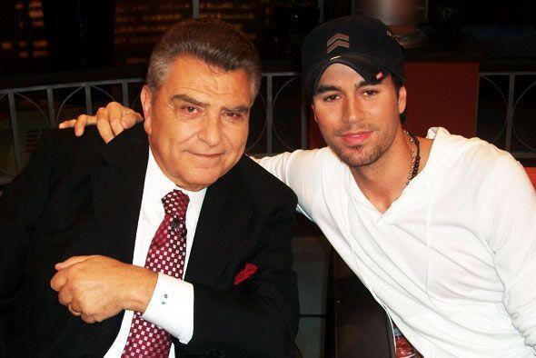 Enrique Iglesias compartió una noche con el Don.