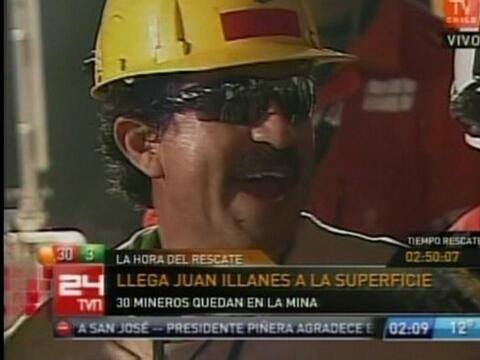 Juan Ilanés Palma, de 53 años, fue el tercer minero en ser...