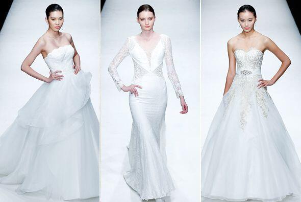 La pasarela de la semana de la moda en China presentó la colección nupci...