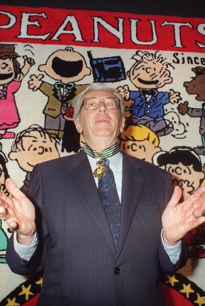 El caricaturista Charles Schulz, quien dejó este mundo a causa del cánce...
