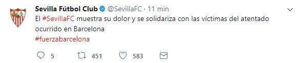 El mundo del deporte se solidariza con las víctimas de Barcelona BCN20.JPG