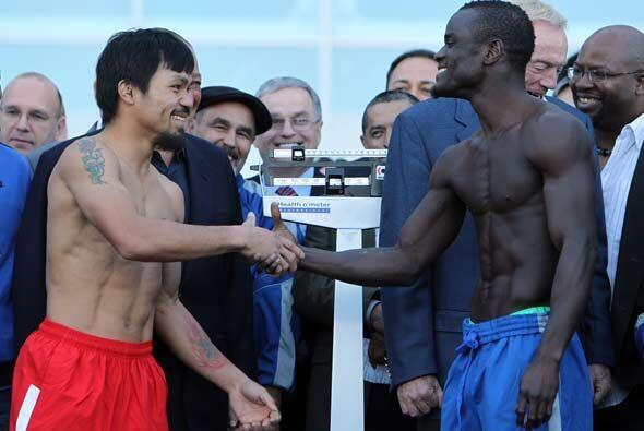 El campeón filipino tuvo su último gesto amistoso con su próximo rival,...