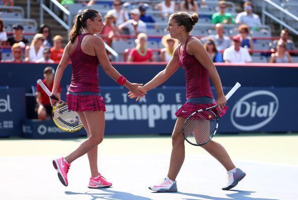 Tras iniciar como las líderes en dobles en el 2014, las italianas Robert...