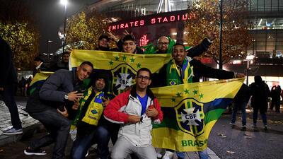 Buen ambiente entre uruguayos y brasileros para el amistoso en Londres