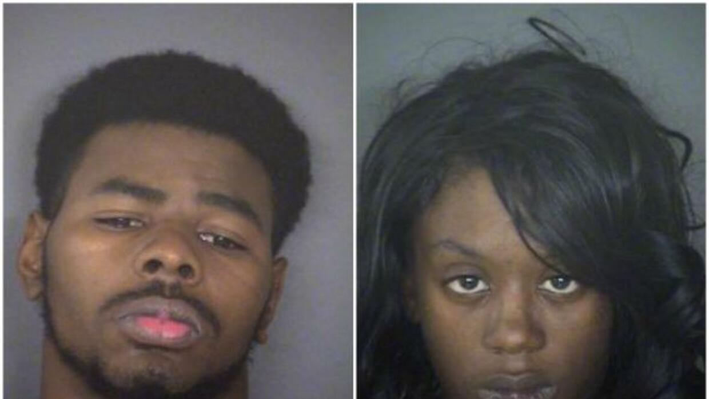 Dewayne Fletcher, de 22 años, y Karon Lagail Johnson, de 26. (**Foto: Be...