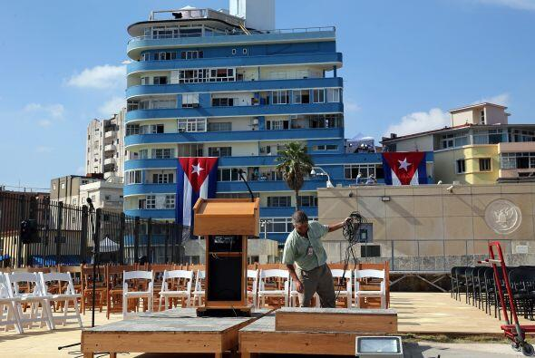 En La Habana, ya está todo listo para el recibimiento de Kerry, quien es...