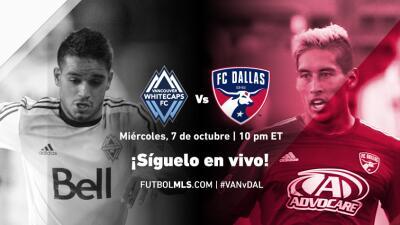 Sigue en vivo Vancouver Whitecaps vs FC Dallas