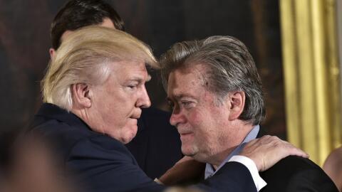 El presidente Trump y Bannon, en una imagen de archivo.