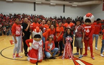 Judson's pep rally was extra lit!
