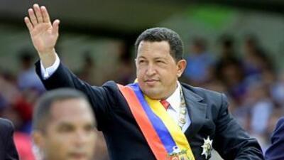 El presidente de la República Bolivariana de Venezuela, Hugo Rafael Cháv...