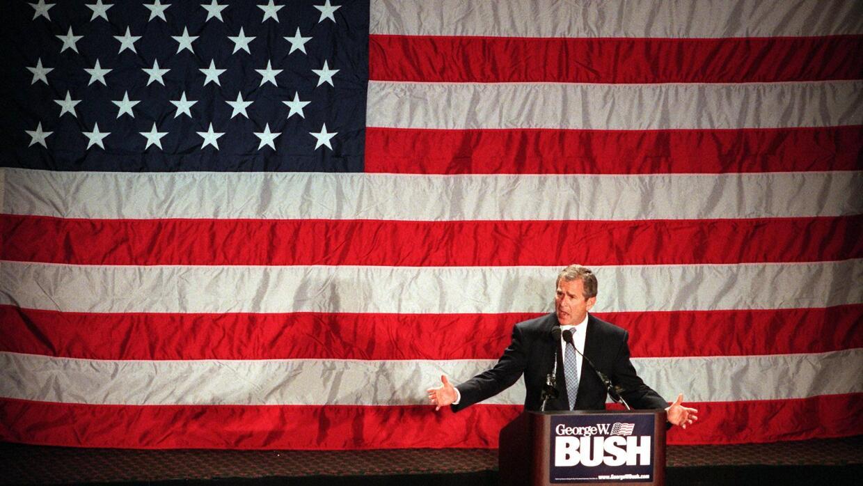 George W. Bush en marzo de 2000, cuando era gobernador de Texas y candid...