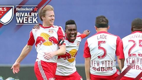 New York Red Bulls celebran la goleada 7-0 sobre New York City FC
