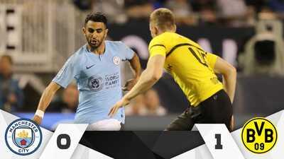 Borussia Dortmund venció 1-0 al Manchester City en el Soldier Field de Chicago