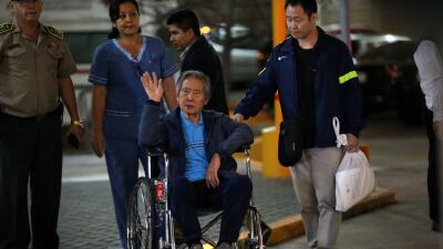 El expresidente Alberto Fujimori el pasado 4 de enero cuando abandonó el...