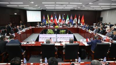 Miembros firmantes del Acuerdo Transpacífico reunidos la semana pasada e...