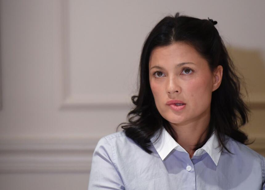 La actriz noruega Natassia Malthe denunció en una rueda de prensa que We...