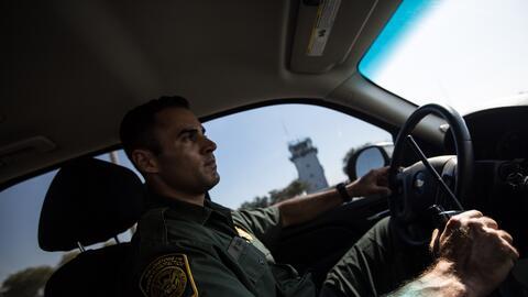 Patrullando el punto más fortificado de la frontera con México