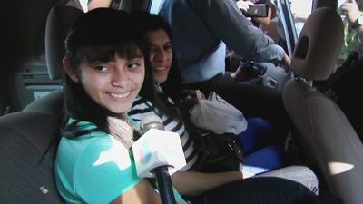 Alondra Díaz  fue entregada formalmente por la justicia a su madre