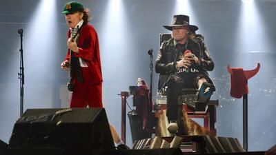 El increíble debut de Axl Rose con  AC/DC