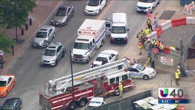 Caída mortal en zona de construcción en el centro de Charlotte