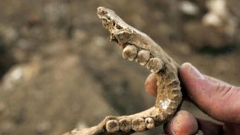 Restos humanos están siendo encontrado en el lecho de un lago cerca de C...