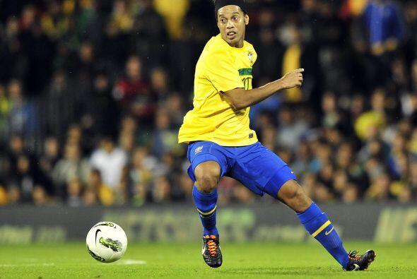 En dicho encuentro, Ronaldinho anotó un golazo.